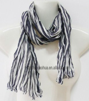 New yarn dye stripe fashion 100% cotton scarf