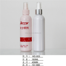 Resonable price 180ml plastic empty spray bottle/cosmetic bottles for toner