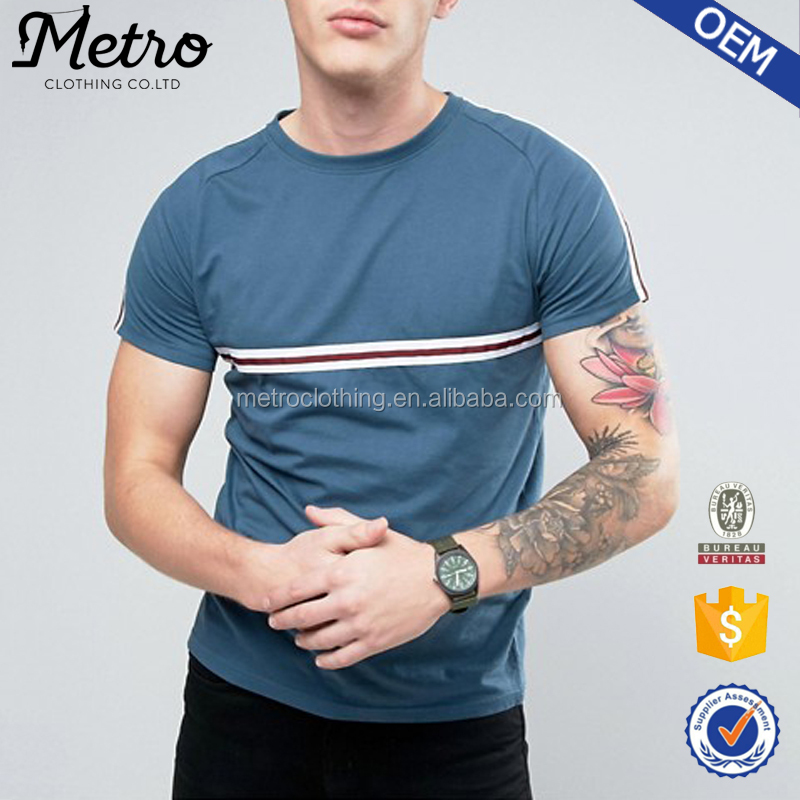Wholesale Men's 100% Cotton Short Sleeve T-shirt in Blank