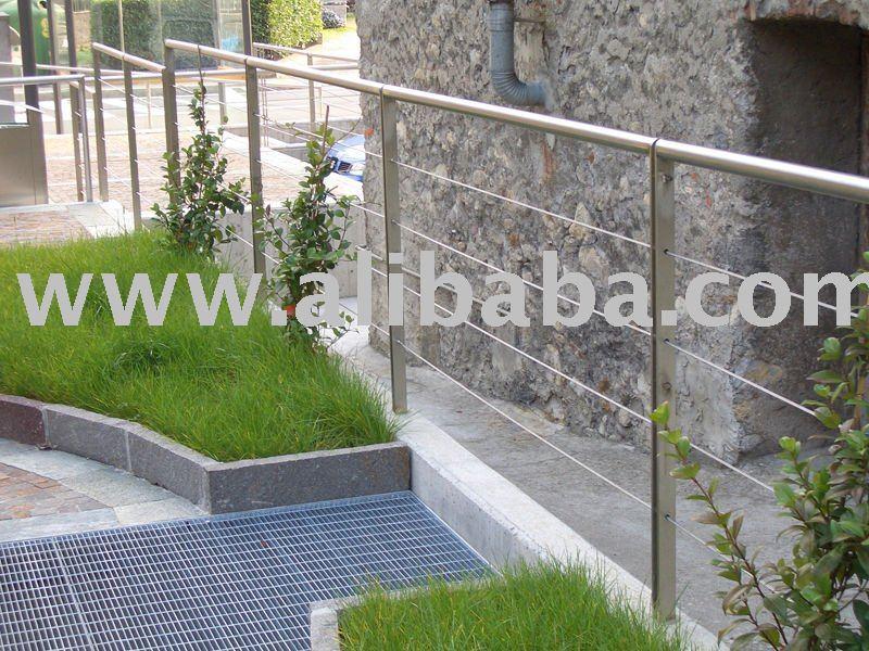 balustrade und gel nder system mit drahtseil br stung und gel nder produkt id 107790544 german. Black Bedroom Furniture Sets. Home Design Ideas