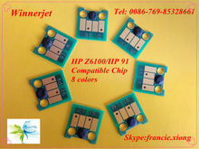 for HP 91 Printer chip for HP Designjet Z6100 plotter