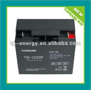 TOPBAND!!! golf trolley battery pack lifepo4 12v 20Ah