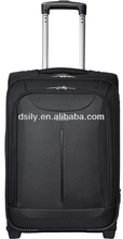 Durable polyester stylish laptop trolley case wheeled case cabin case