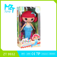 2015 New !Eco-friendly Button Girl(the PVC hair doll series)+animal+cloth barbie doll (2 model mixed)