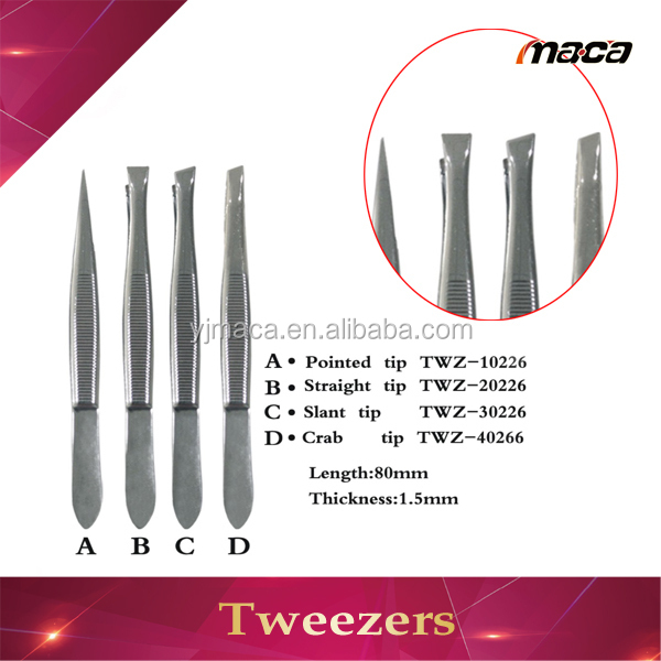 45 degree angle curved tip eyelash extension tweezer