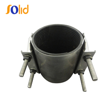 SS-CR Stainless steel double bands repair clamp for casst iron pipe