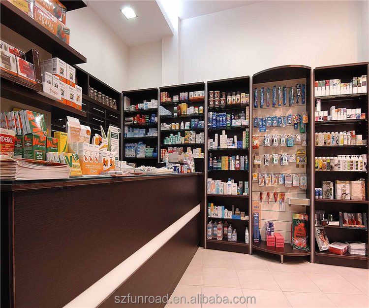 Pharmacy Display Stand for Pharmacy Retail Store Decoration