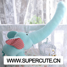 2015 Hot New Products Wholesale creative big soft long nose elephant <strong>plush</strong> toy fabric