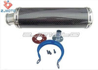 Universal 89*300 mm carbon fiber motorcycle exhaust tip chinese air compressor muffler