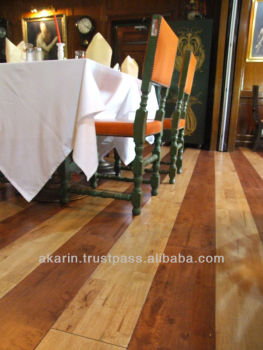 Solid Rubberwood Flooring with staining colour