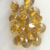 Fancy Yellow polished lab created HPHT round cut diamond for jewelry