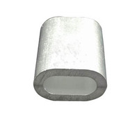 Aluminum ferrules wire rope sleeves
