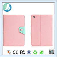 Pink Color Genuine Leather mobile display case for ipad mini