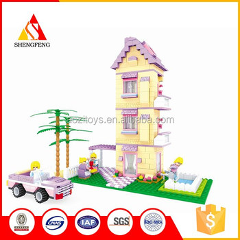 Super mini kids educational plastic city blocks toys set