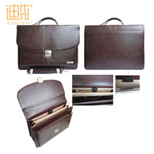 High quality Wholesale designer Man conference file document leather bag briefcase for man