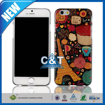 C&T Life Sweetly Vintage Paris France Eiffel Tower Flower Case for Apple iPhone 6 Plus 5.5""