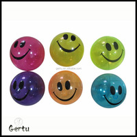 flashing smile face bouncing ball