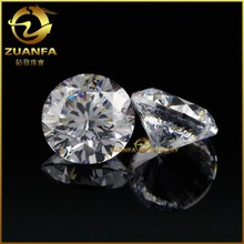 Hot sale 2mm aaa cz stone cubic zirconia synthetic white diamond for sale