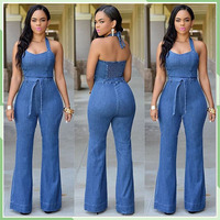 Fashion jeans Cultivate one's morality leisure jumpsuits for women 2016