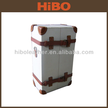 Canvas and Leather Antique Wine Carrier