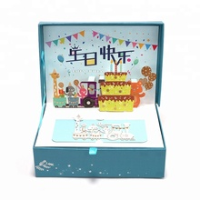 Paper Spiritz custom birthday gift box 3D paper pop up box