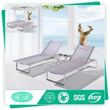Top quality outdoor furniture double sunbed / beach sun bed / double beach chair