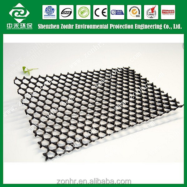 CE Certificated HDPE/PP Uniaxial Plastic Geogrid 110KN
