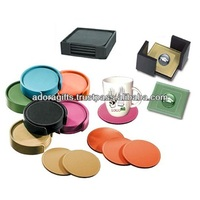 ADACS - 0018 india supplier hot selling coaster / party leather coaster / new year decorative tea coaster