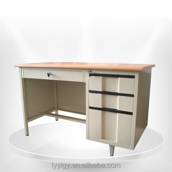 Office Steel Desk computer table design With KD Pedestal