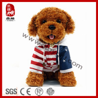 Stuffed Plush Toy Dressed Sitting Poodle Plush Dog