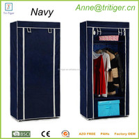 Folding cloth wardrobe closet with roll up curtain at the front