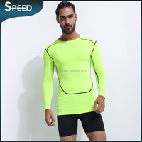 Green men custom shirts sport clothes compression long sleeve