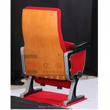 fixed theater tip-up seat , single leg church seating , chair with writing table for conference room