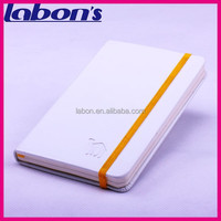 white pu leather notebooks with elastic band brand books