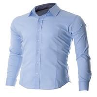 60% Polyester 40% Cotton Uniform Work Shirt Custom Men's Dress Shirt OEM