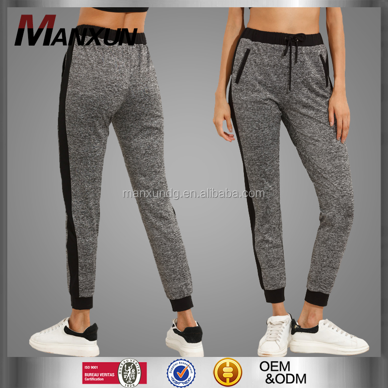 Cotton Fleece Womens Joggers Tie Waist Tracksuit Bottoms High Quality Running Track Pants