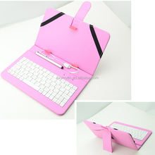 universal pu leather tablet case cover for lenovo thinkpad 8 for huawei with keyboard and elastic band strip