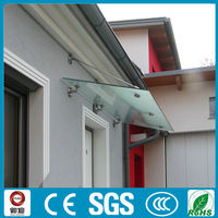 Exterior Door Stainless Steel 316 Glass Canopy Awnings