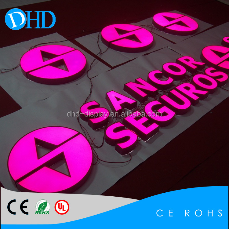 Outdoor double sided Acrylic Channel Big Letter Sign LED Company Logo