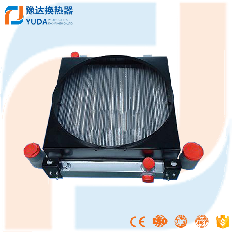 aluminium plate fin exchanger industrial hydraulic oil cooler with fan, motor and pump