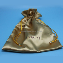 Factory wholesale custom satin silk lingerie bag with logo printing