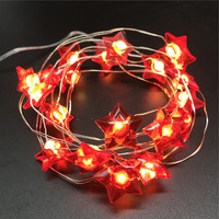 New design solar outdoor wireless battery operated christmas led string light with star