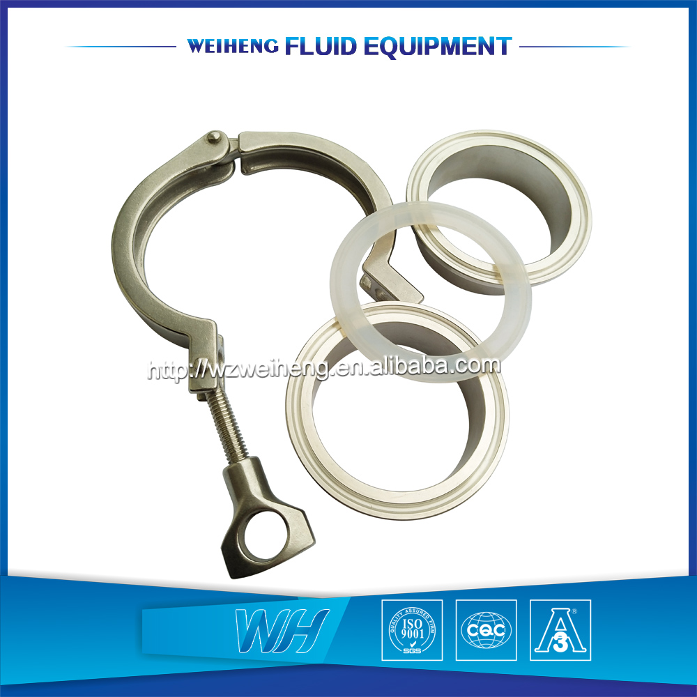 4 inch Sanitary stainless steel 304 pipe Tri clamp ferrule <strong>fitting</strong>