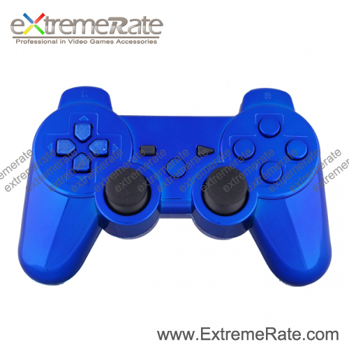 POLISHED BLACK WIRELESS CONTROLLER SHELL FOR PS3 + BUTTONS Game Accessories