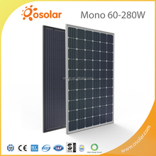 2016 NEW HOt Sale 60 cells 280w mono solar pannel photovoltaic