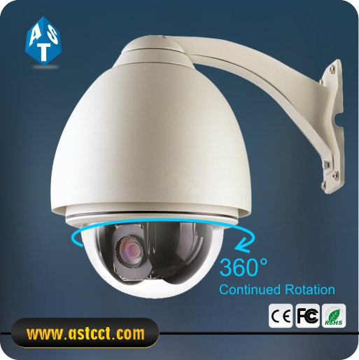 Full Cover 6inch Outdoor Analog Intelligent 27X Optional Zoom 700TVL PTZ RS485 High Speed Dome Camera AC24V
