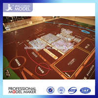 china supplier city plan miniature architecture model with trees for Marshall Islands/Palau/Nauru/Kiribat