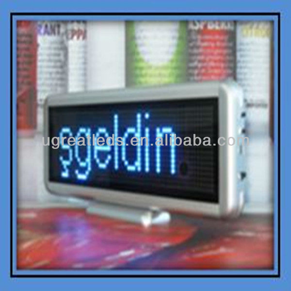 16*64dots Recharge SMD Mini Led Moving Message Screen