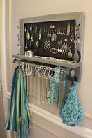 On Sale!!! Scroll Trim Series Wall Mounted Jewelry Organizer