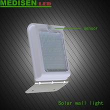 MEDISEN Solar light Swiftly Done No Tools Required Peel and Stick Motion Activated Outdoor Led Solar Wall Light
